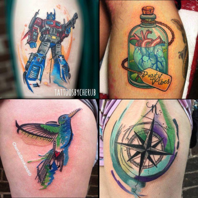 tattoos by Cherub at Minerva Lodge